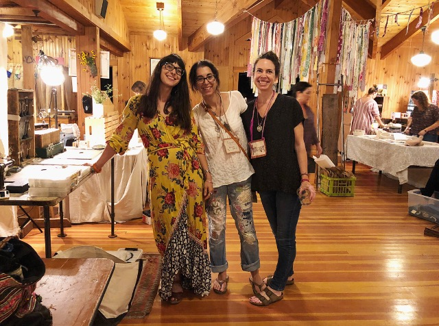with two of my favorite fellow makers Ashley Procopio & Karen Stevens at the Squam Art Fair