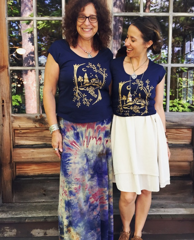 Oh so honored to have these two friends ~ Loretta Kretchko & Meg McElwee ~ wearing their Untold Imprint tees and vintage amulet necklaces.