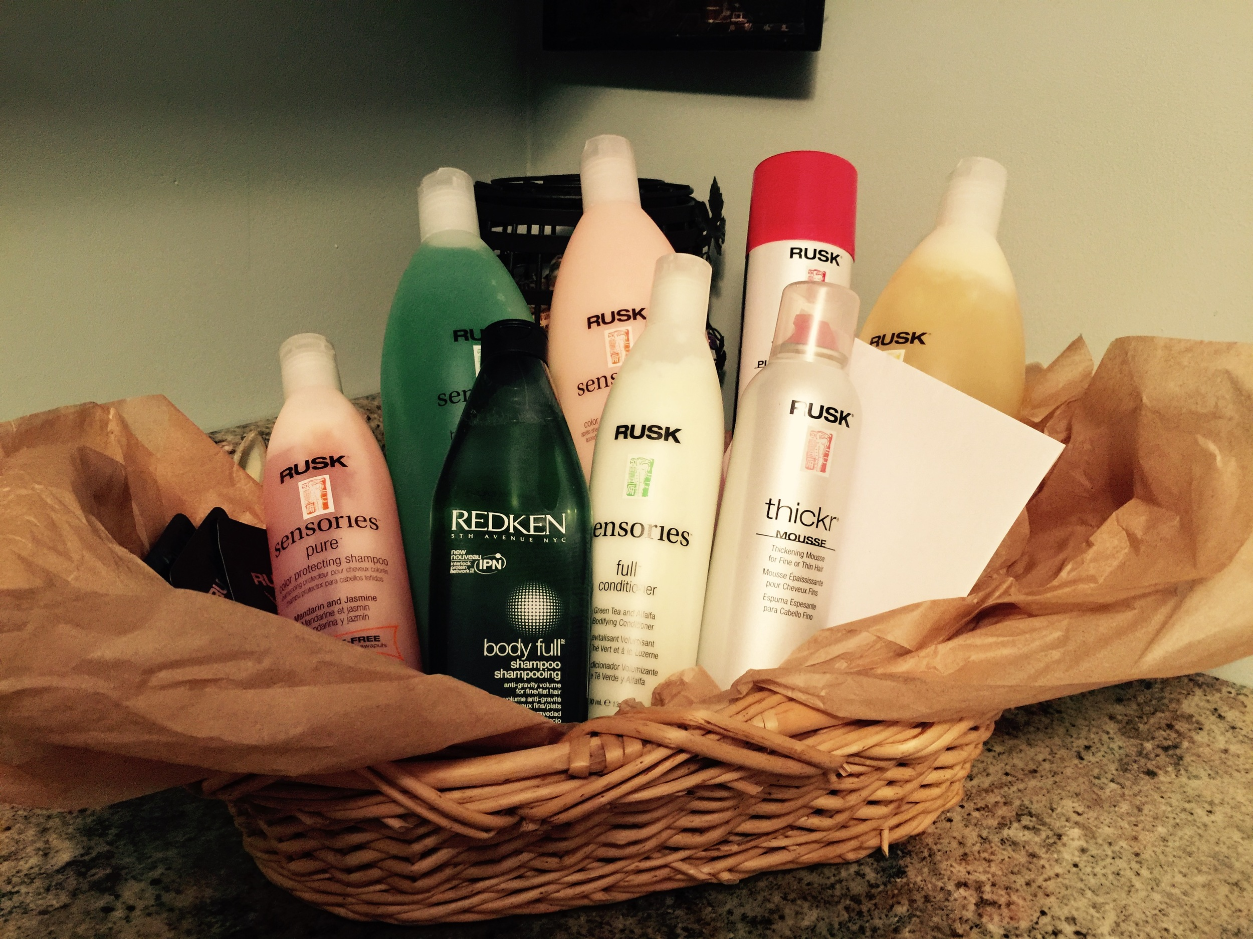 Upscale Hair Product Basket