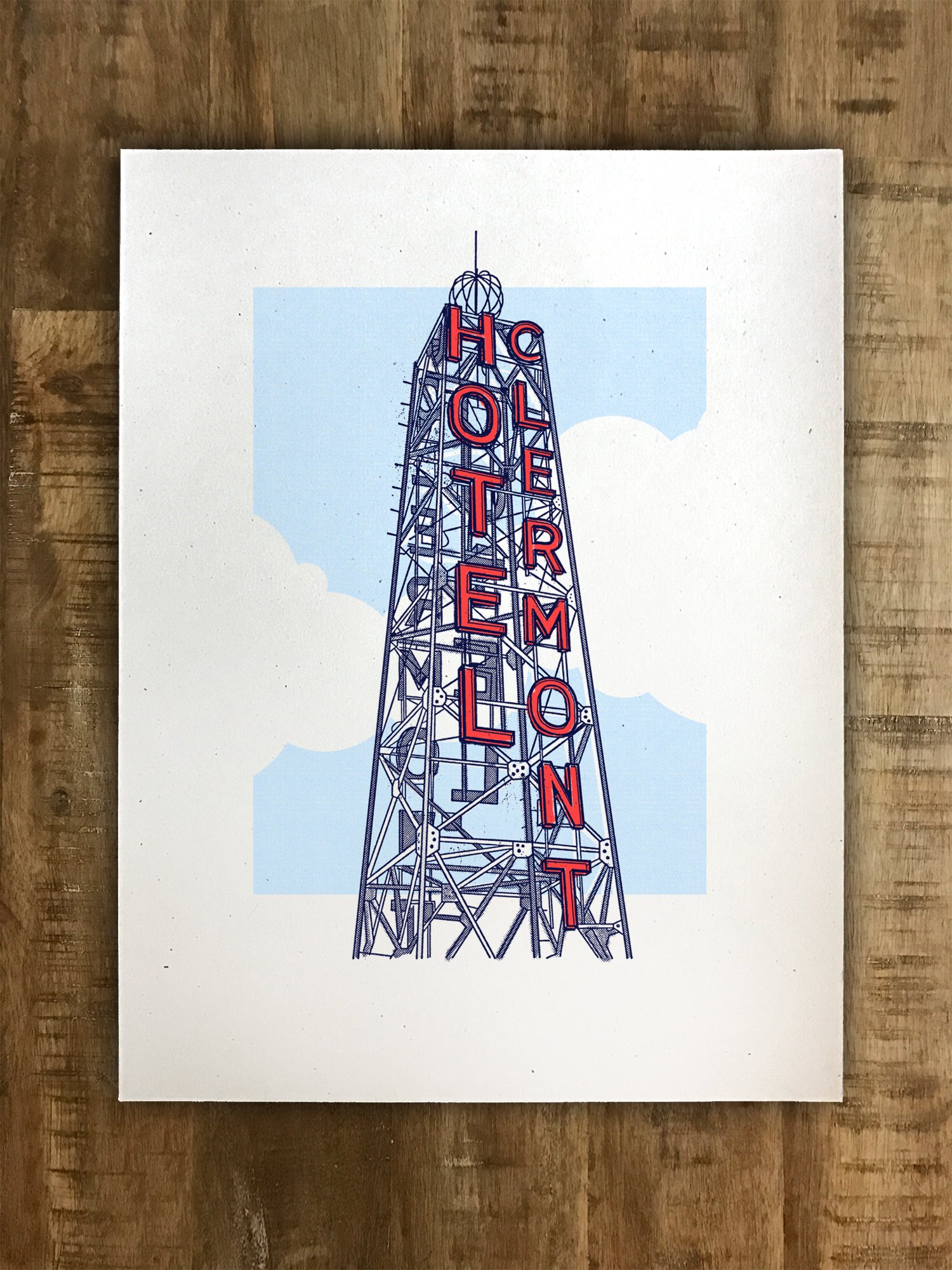 Hotel Clermont Tower - by Seth WcWhorter - Atlanta, Georgia - Illustration - Multiple Sizes - (Original Print) - Original illustration of the iconic Hotel Clermont Tower in Atlanta, Georgia.Offered in 3 sizes. $15+