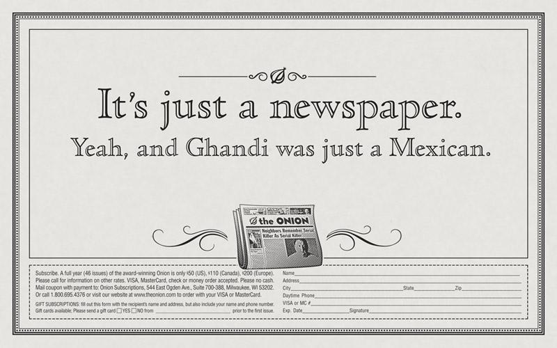 """Ghandi"" Print  Role: Art Director  Copywriter: Mike Lear"