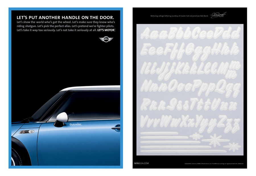 """Callsign Stickers"" Print  Role: Art Director  Copywriter: Evan Fry Illustrator: Bob Bond"
