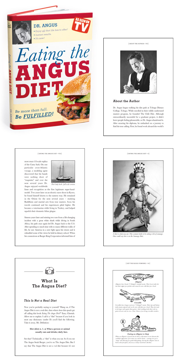 """""""Eating the Angus Diet"""" Book  Role: Art Director  Copywriter: Evan Fry"""
