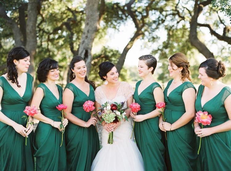 EMERALD BRIDESMAID DRESSES PHOTO