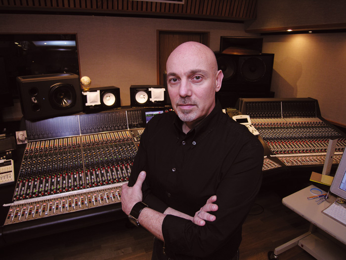 Joe Chicarelli in the studio