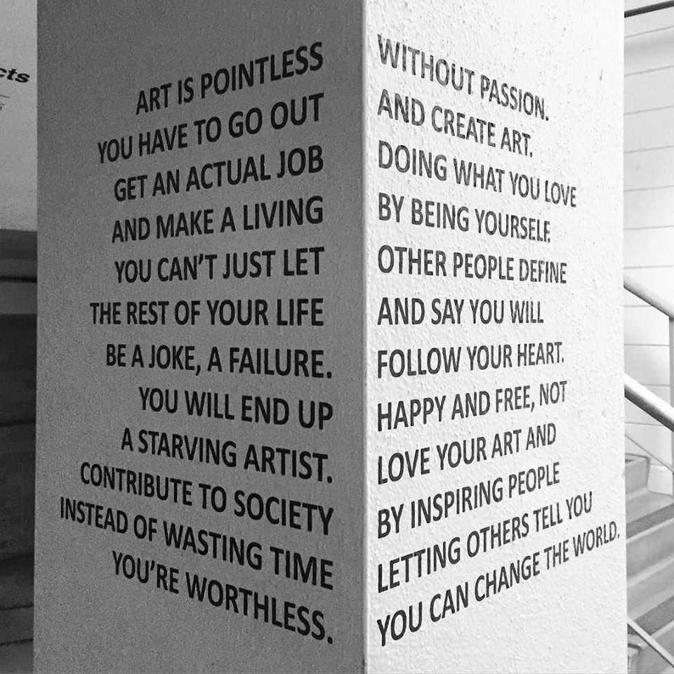 Art is about perspective