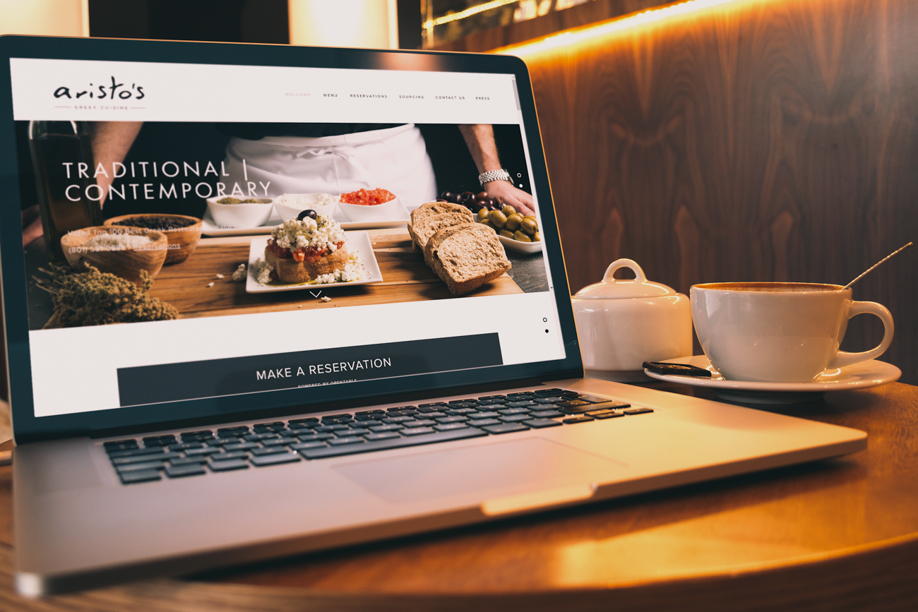 Web Design - Restaurant website and services