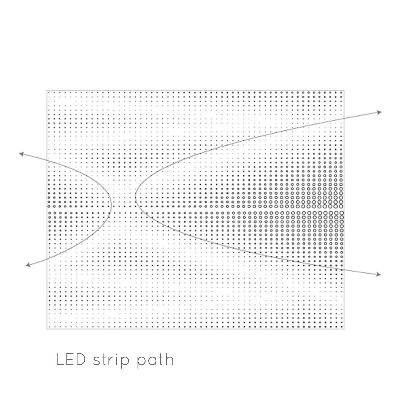 Panel and illumination pattern - Ilustration