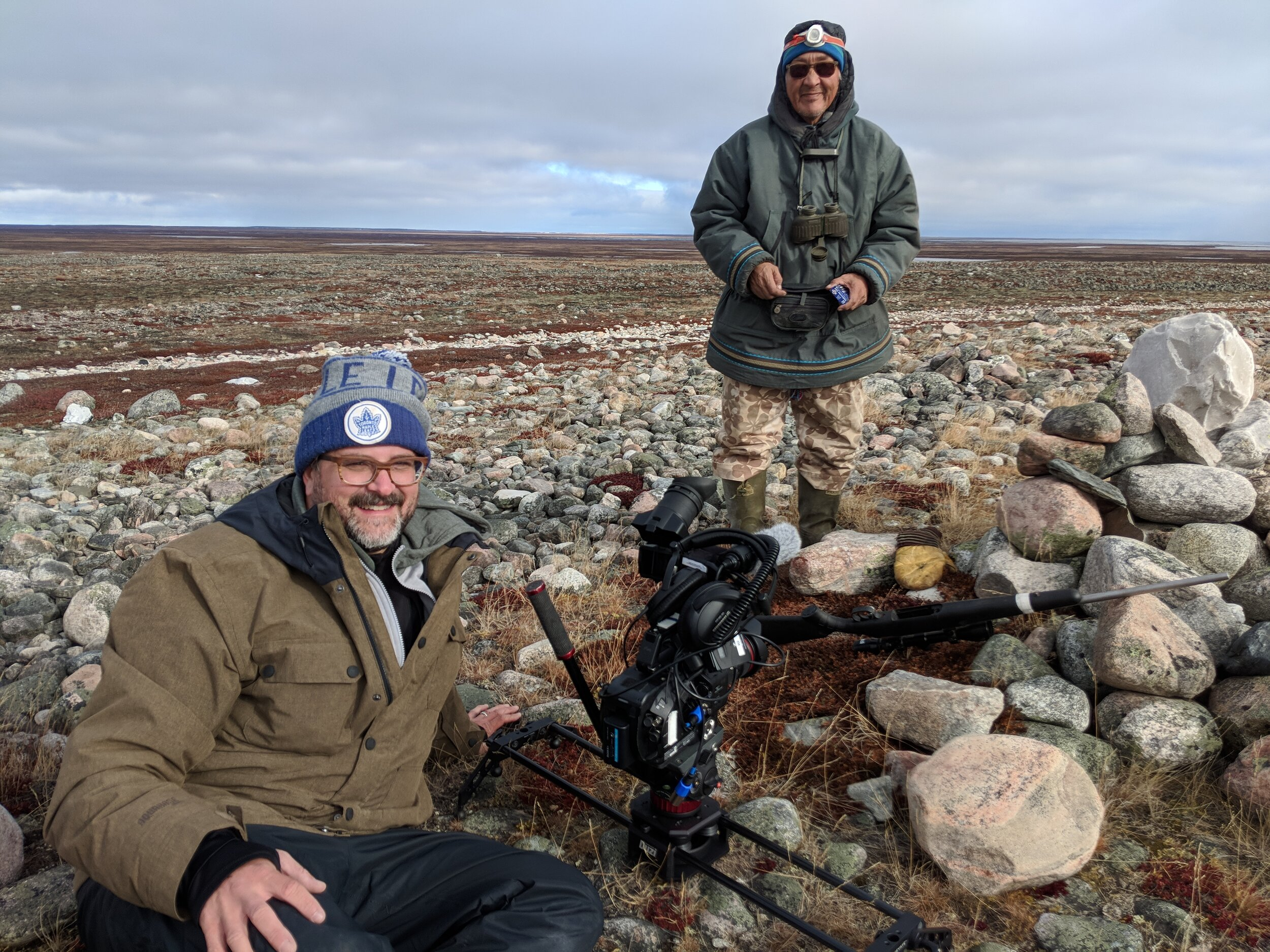 On location in Nunavut, Canada