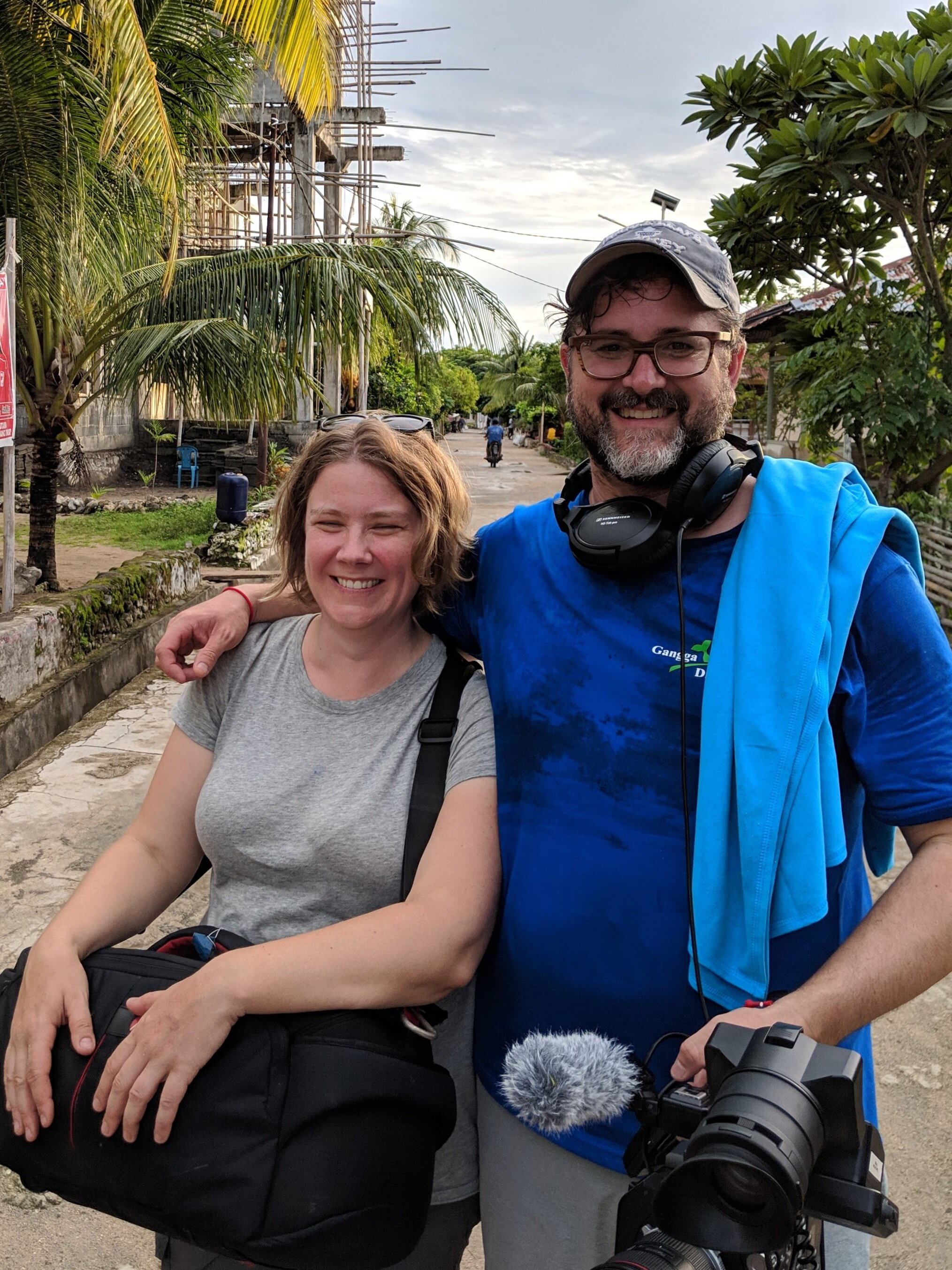 Erin Tee with Iain Robinson in Sulawesi, Indonesia