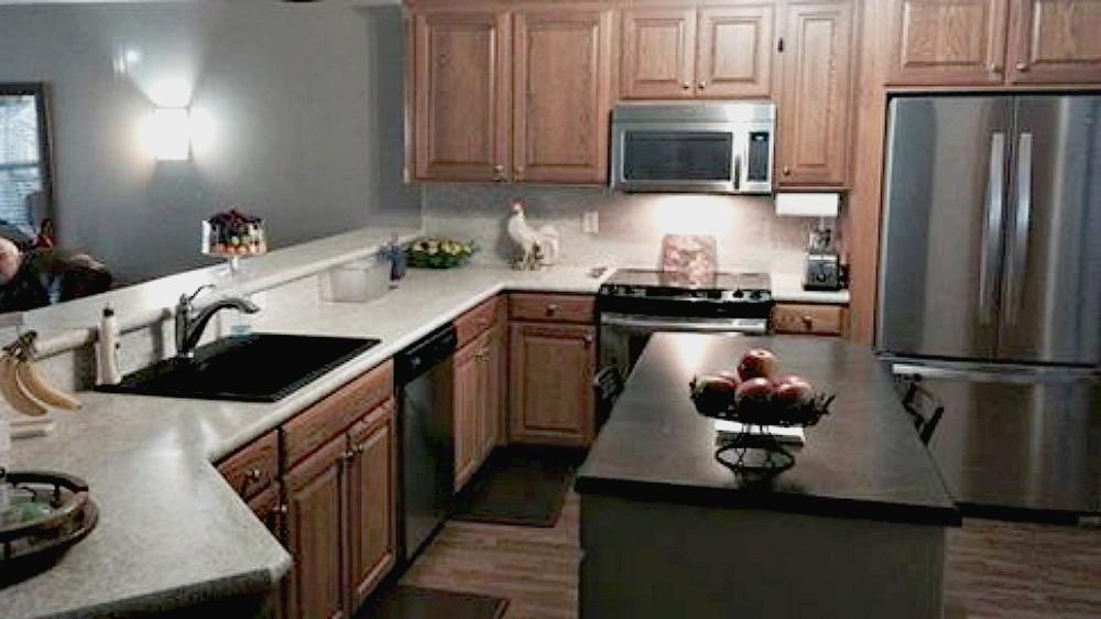 Laminate Job done with decorative edge and granite composite sink!