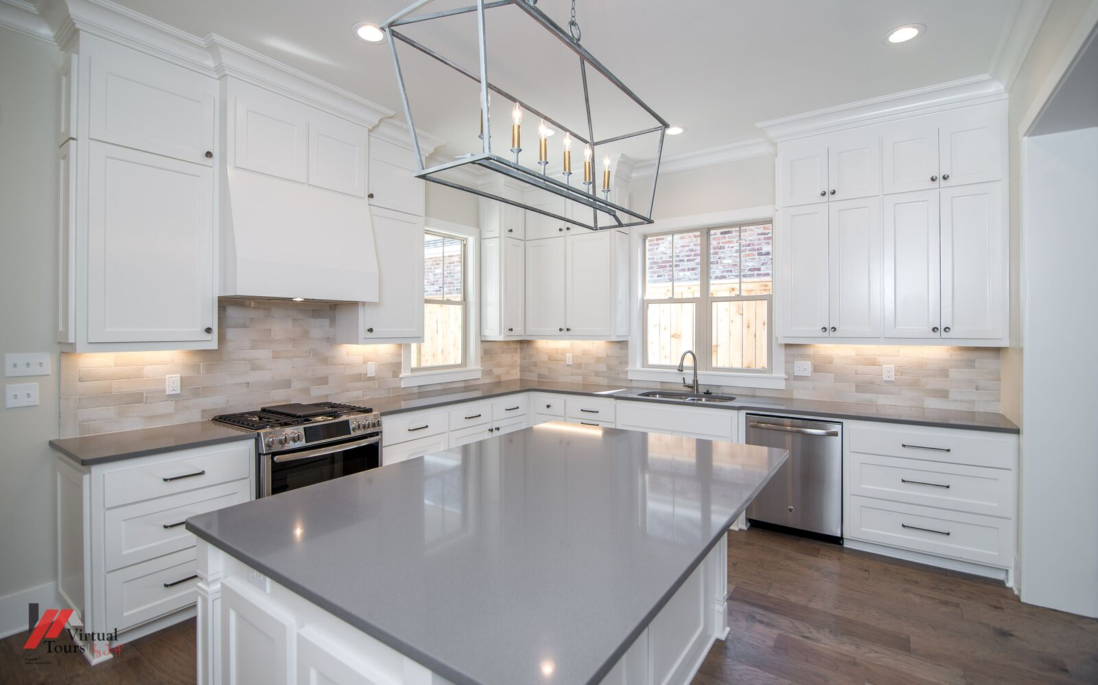 Shreveport home with Gray Engineered Stone.