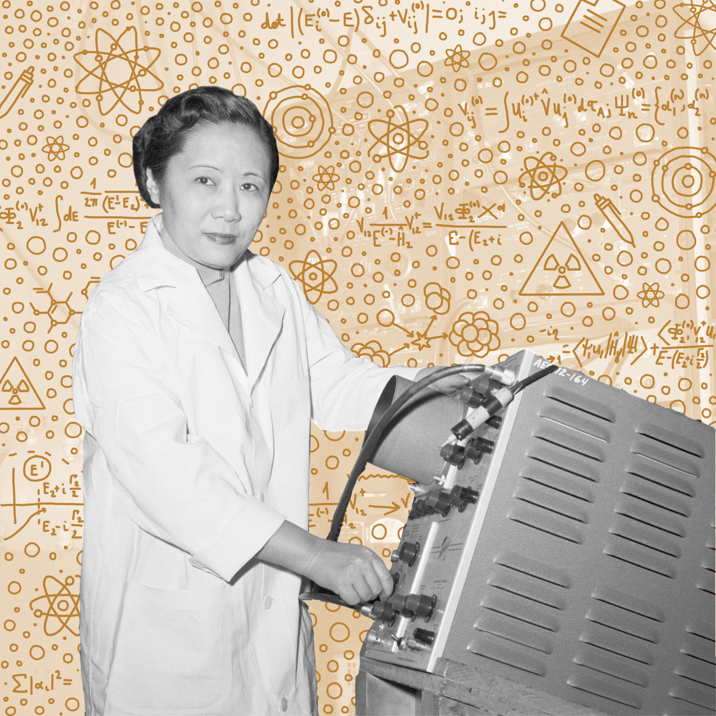 """Chien-Shiung Wu   Now known as """"the First Lady of Physics"""" """"Queen of Nuclear Research,"""" nuclear physicist Chien-Shiung Wu worked with theoretical physicists, Tsung-Dao Lee and Chen Ning Yang, who wanted her help in disproving the law of parity. Although Lee and Yang developed the theory disproving the law of parity, it was Wu who developed and conducted the experiments that actually served as proof. In 1957, Lee and Yang both received the Nobel Prize for their work — but Wu's contribution was ignored."""