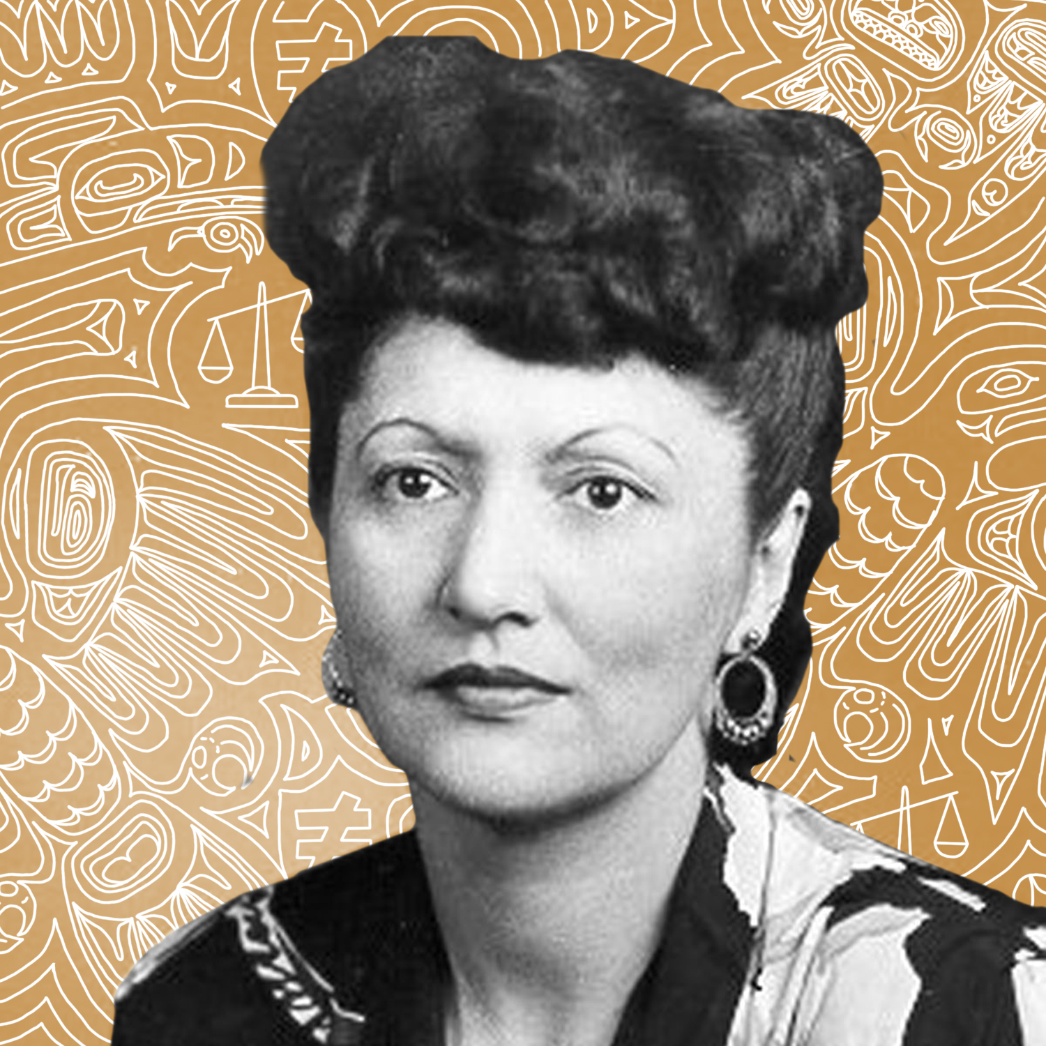 """Elizabeth Wanamaker Peratrovich   In 1945, Elizabeth (Wanamaker) Peratrovich (Tlingit) was instrumental in gaining passage of America's FIRST anti-discrimination law. After encountering """"No Natives Allowed"""" signs, she and her husband worked for passage of the Alaska Anti-Discrimination Act until it finally came before the Senate."""