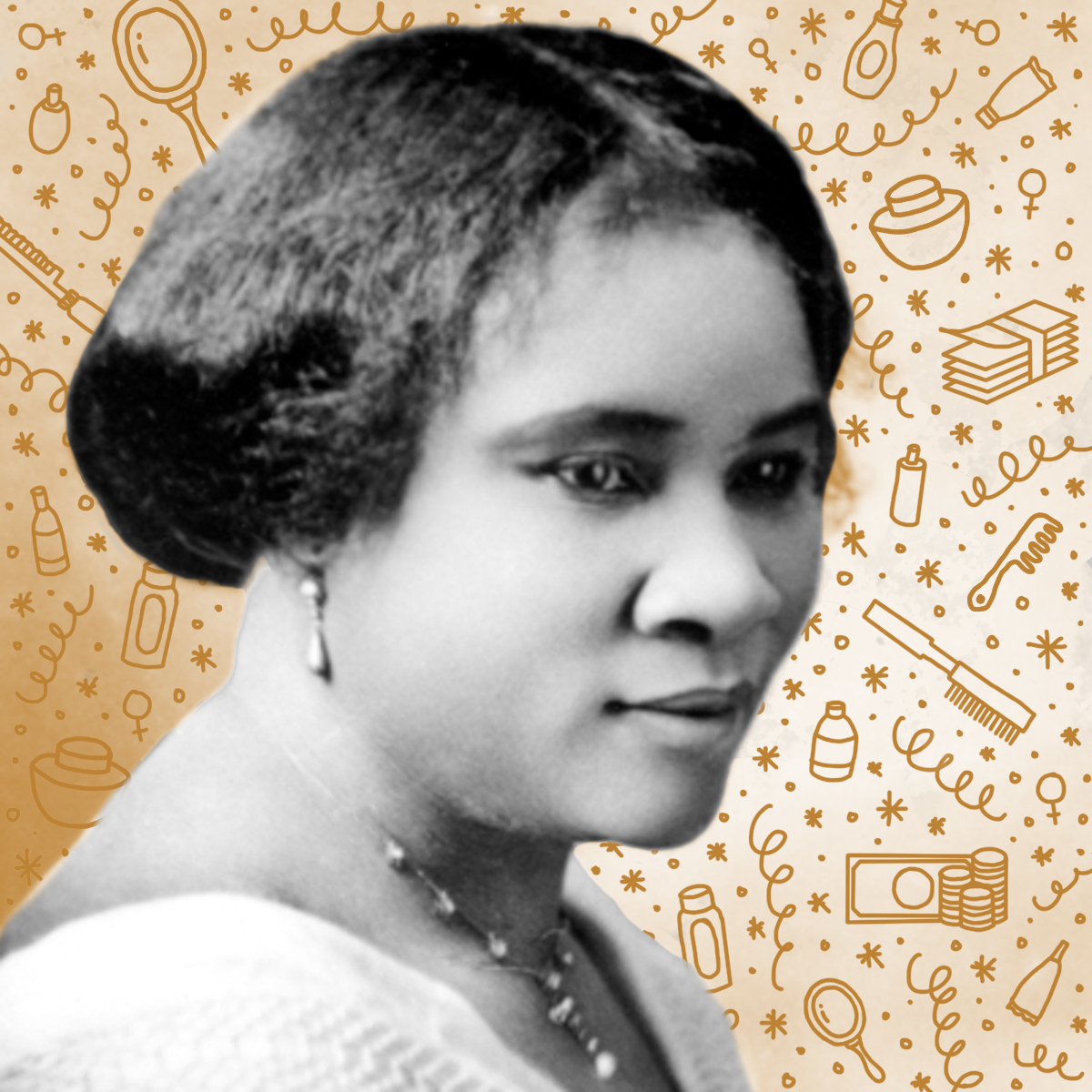 Madame C.J. Walker   When her hair started falling out at nearly 40 years old, Walker began creating at-home remedies,which she later began selling nation-wide. Determined to create opportunities for Black people who she saw working as maids and sharecroppers, Walker began recruiting Black men and women across America to join her growing beauty empire as sales agents.The daughter of former slaves, Walker went on to become the first female self-made millionaire in America, and built a mansion in the same neighborhood as John D. Rockefeller.