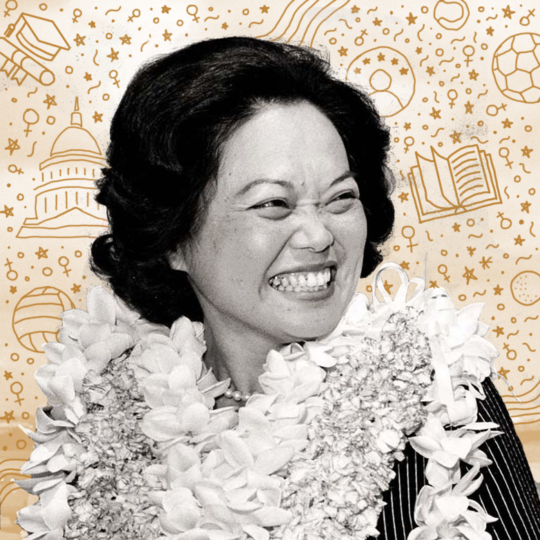 Patsy Mink   One of the co-authors of Title IX (which works to prevent sex discrimination in education), Patsy Mink was also the first Asian American elected to Congress and the first woman of color in the US House of Representatives. As if that wasn't enough, she was also the Asian American (male or female!) to run for president.