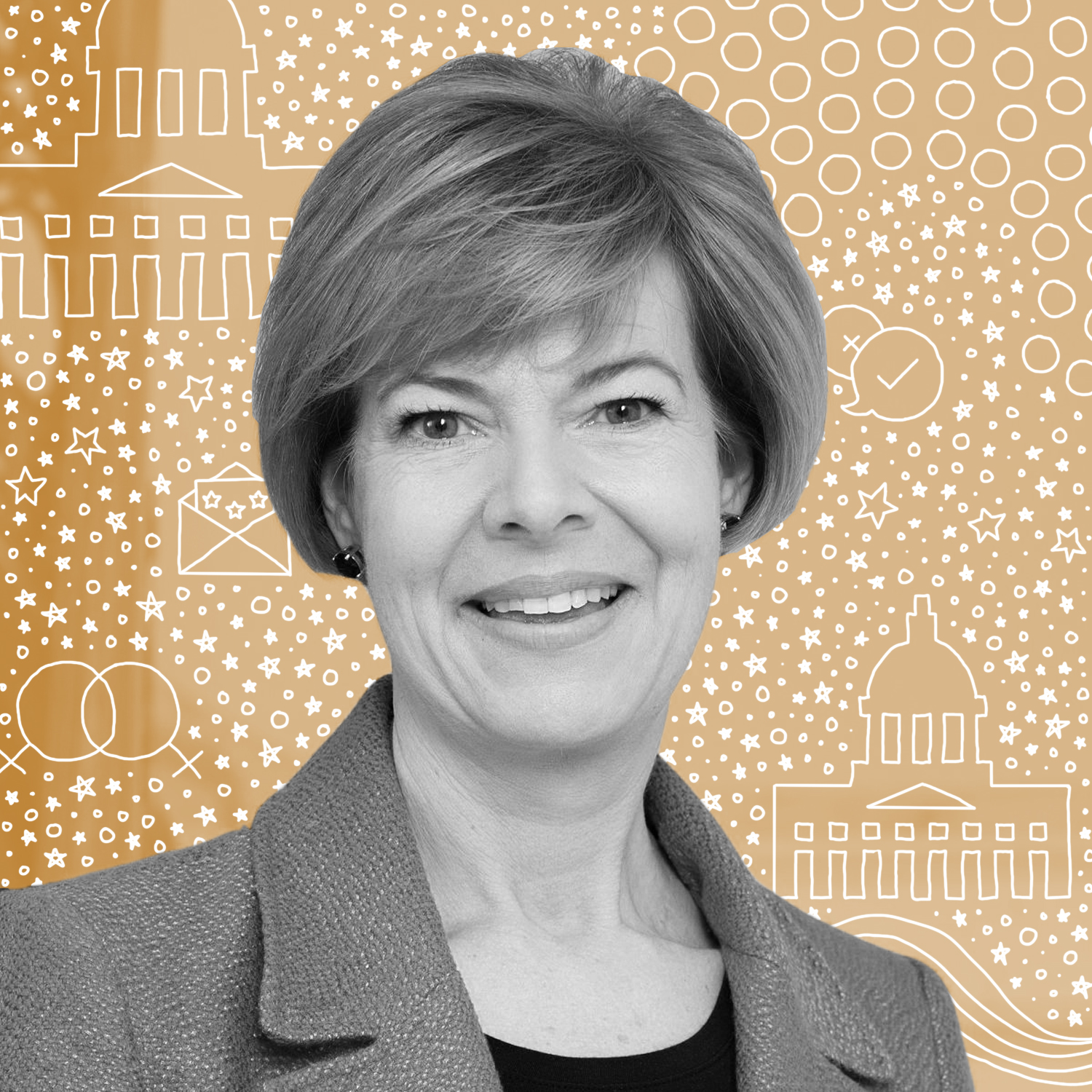 Tammy Baldwin   In a slew of firsts, Tammy Baldwin was the first openly gay member of the Wisconsin Assembly and was the first openly gay woman elected to the House. She later became the first woman elected to represent Wisconsin in the U.S. Congress and the first openly gay U.S. Senator in history. A true trailblazer.
