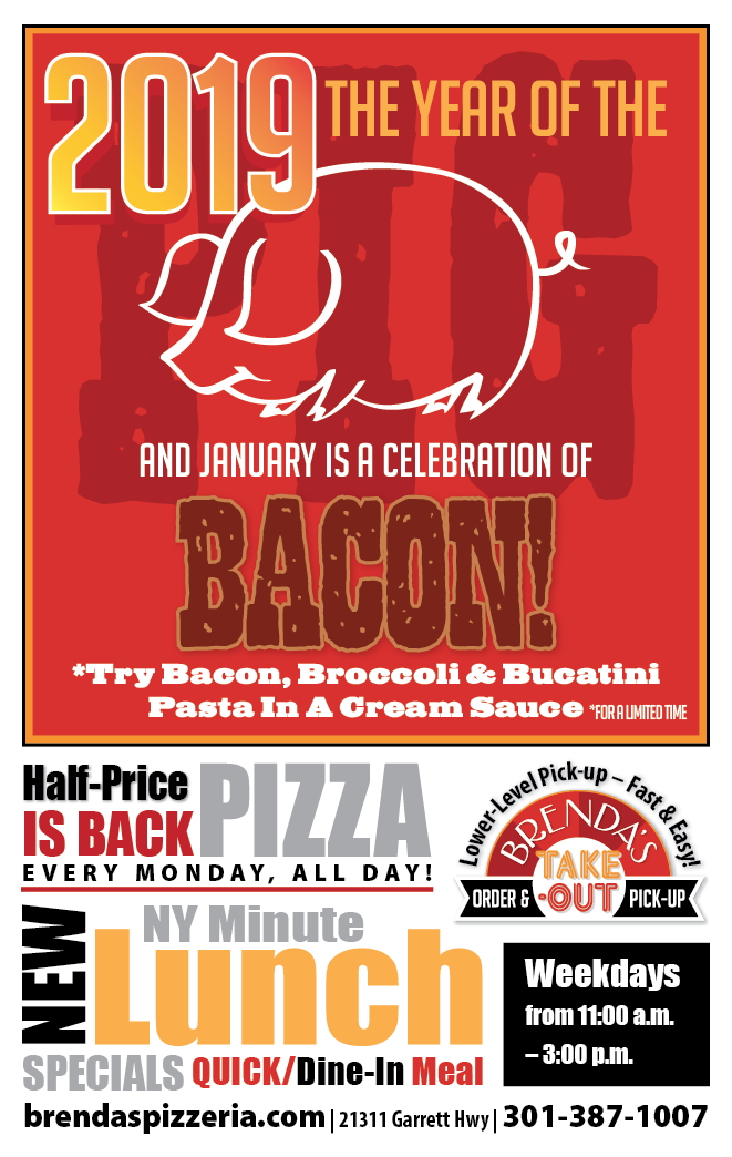 JANUARY: New Year's Pork & Half-price Pizza Is Back!