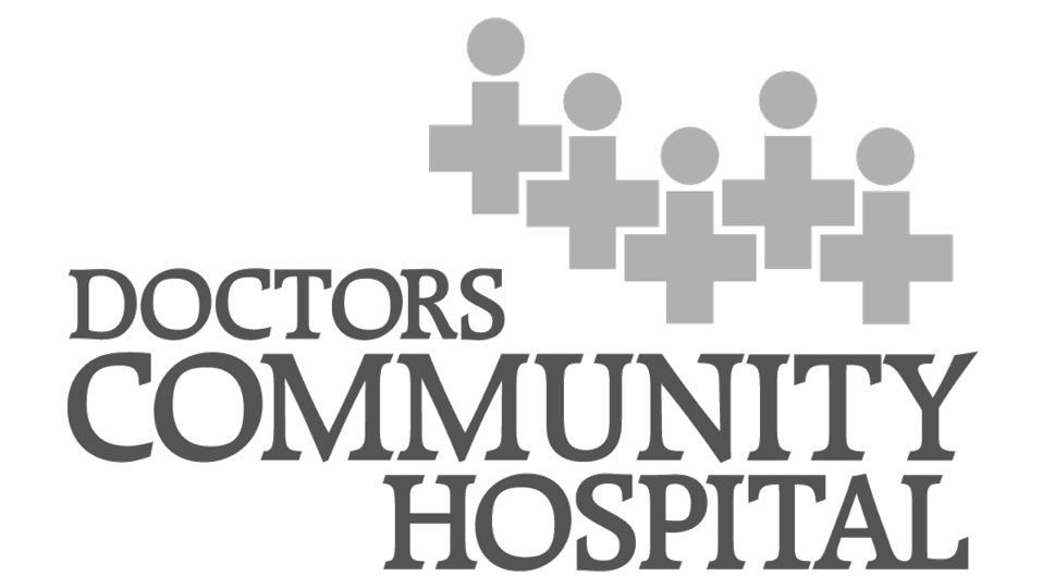 doctors community hospital - black and white.png