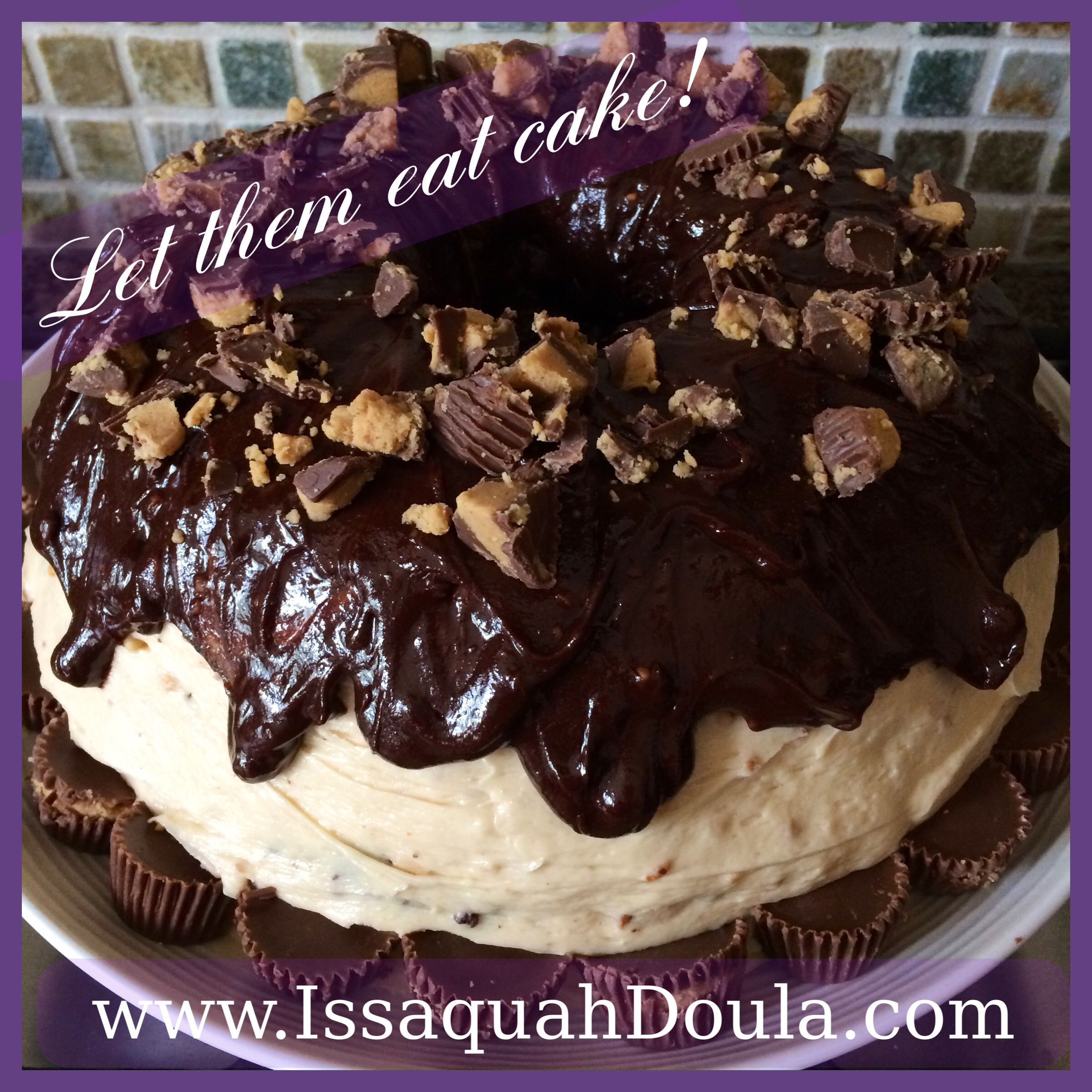 Issaquah Doula's PB & Chocolate Cake
