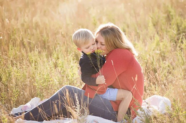 Just a momma, and her boy in a field.  Pretty simple stuff.