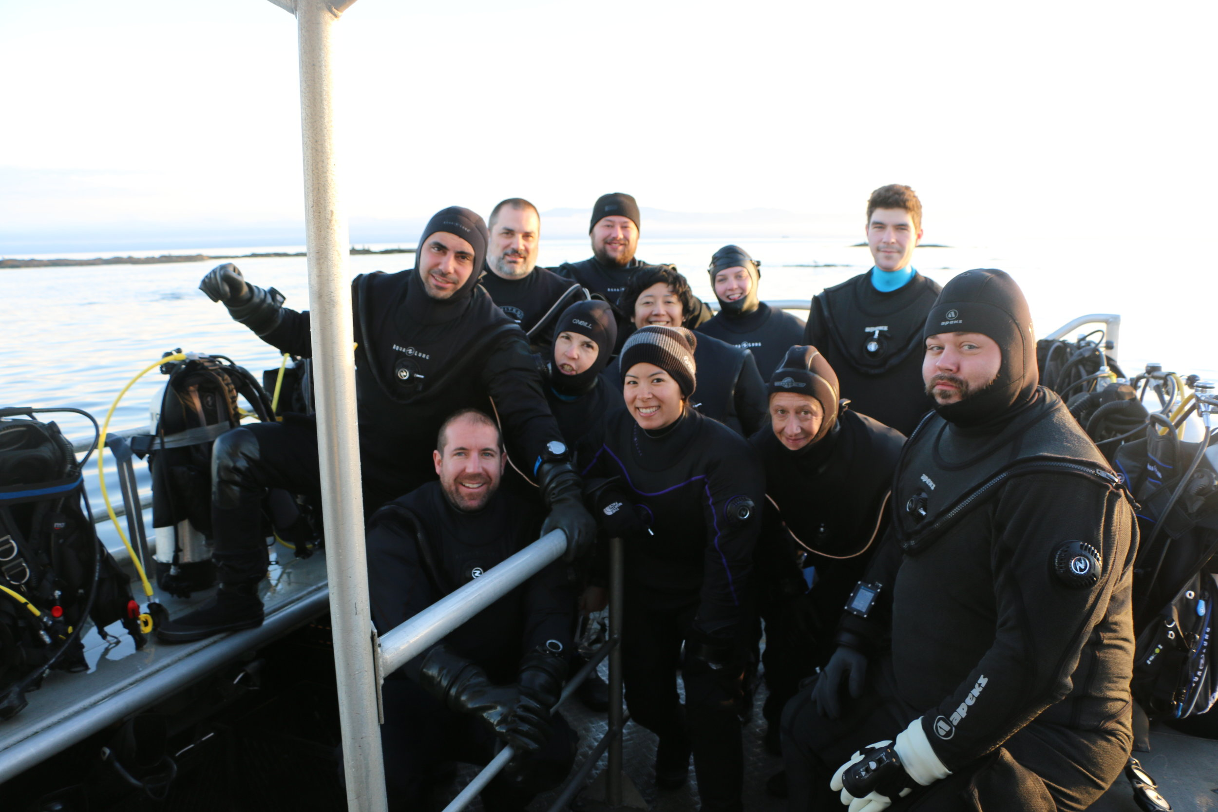 Post-Dive Group Photo