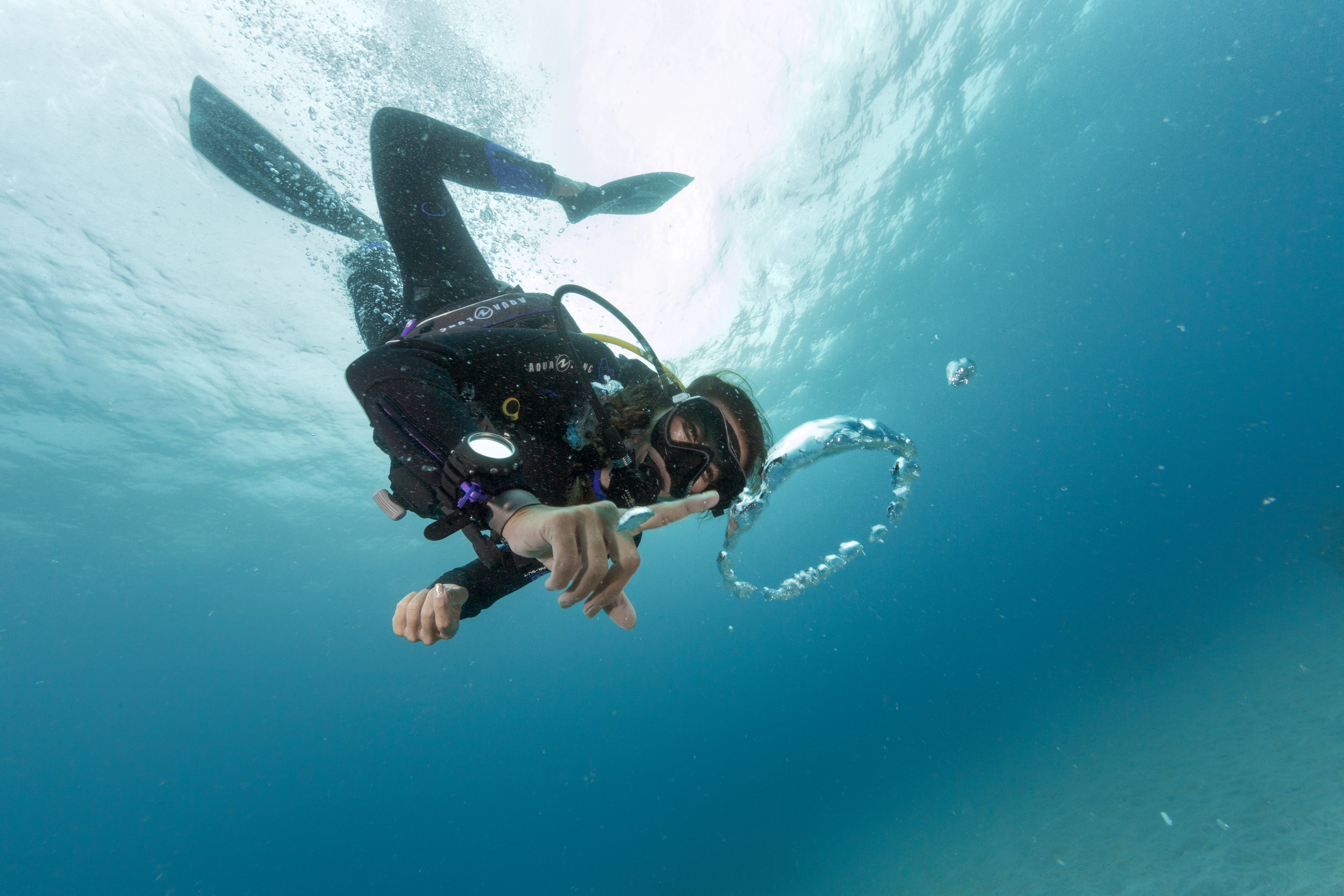 To help you perfect your buoyancy skills so you can hover and glide effortlessly through the water -