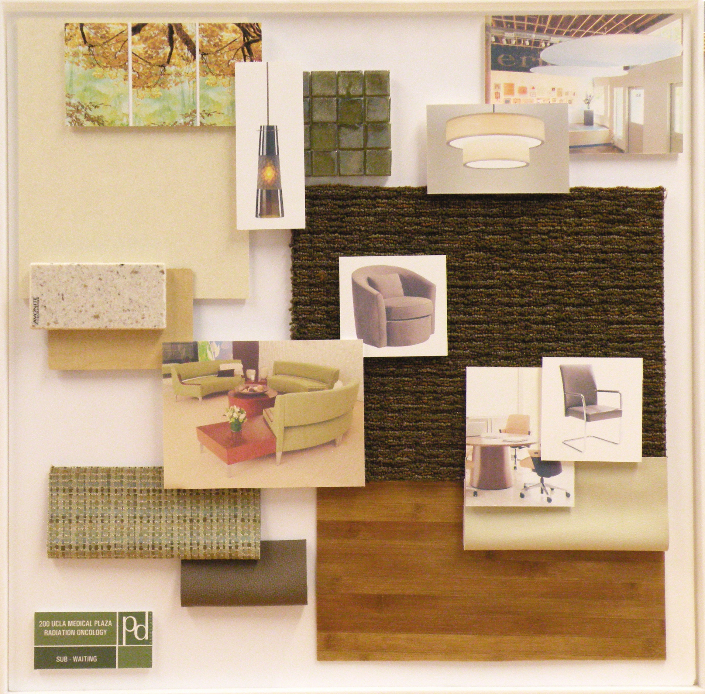 Reception/Check-in Material Board