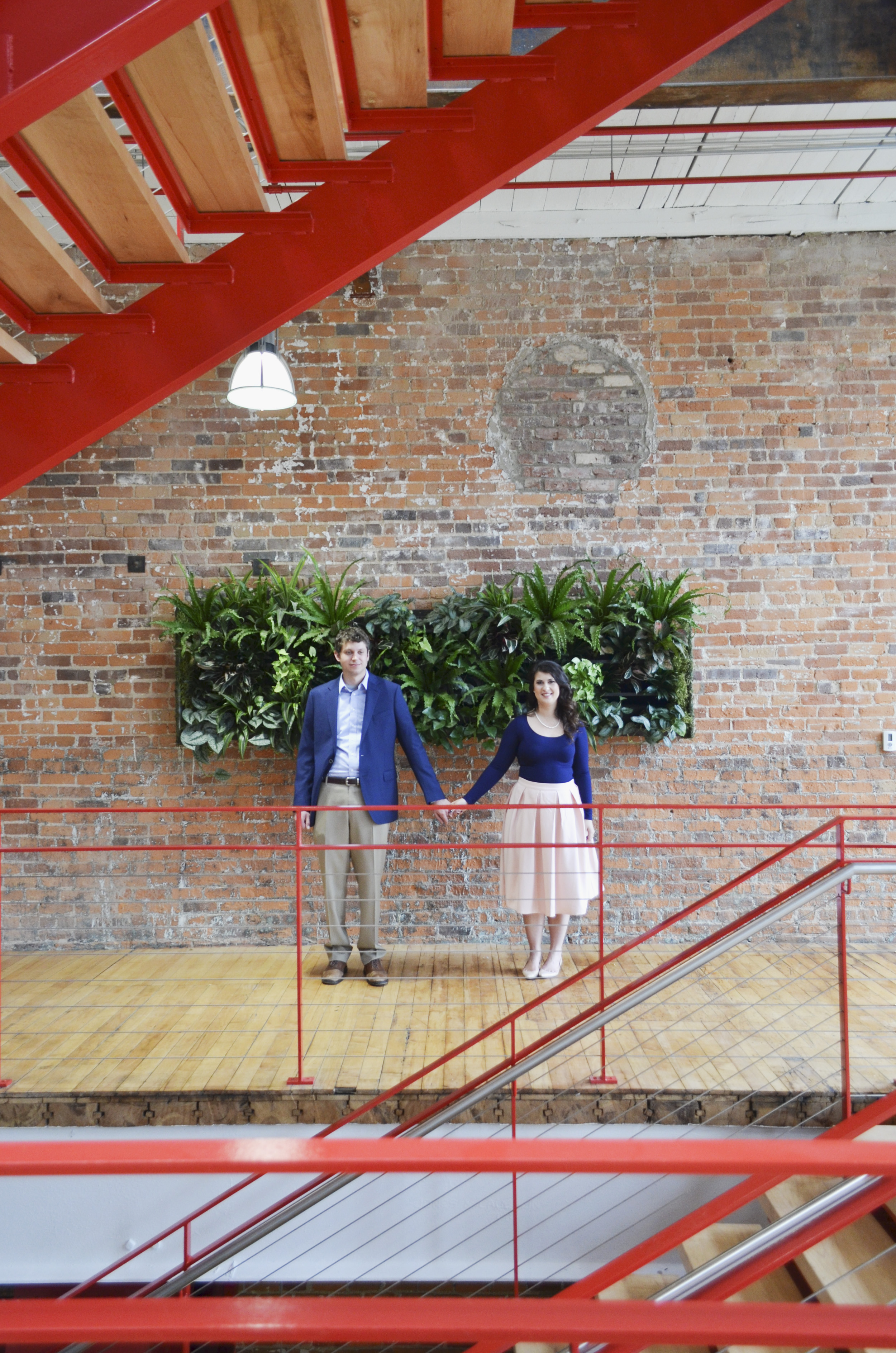 Revolution Mill Events Center Engagement Photography Greensboro North Carolina by Kayli LaFon Photography