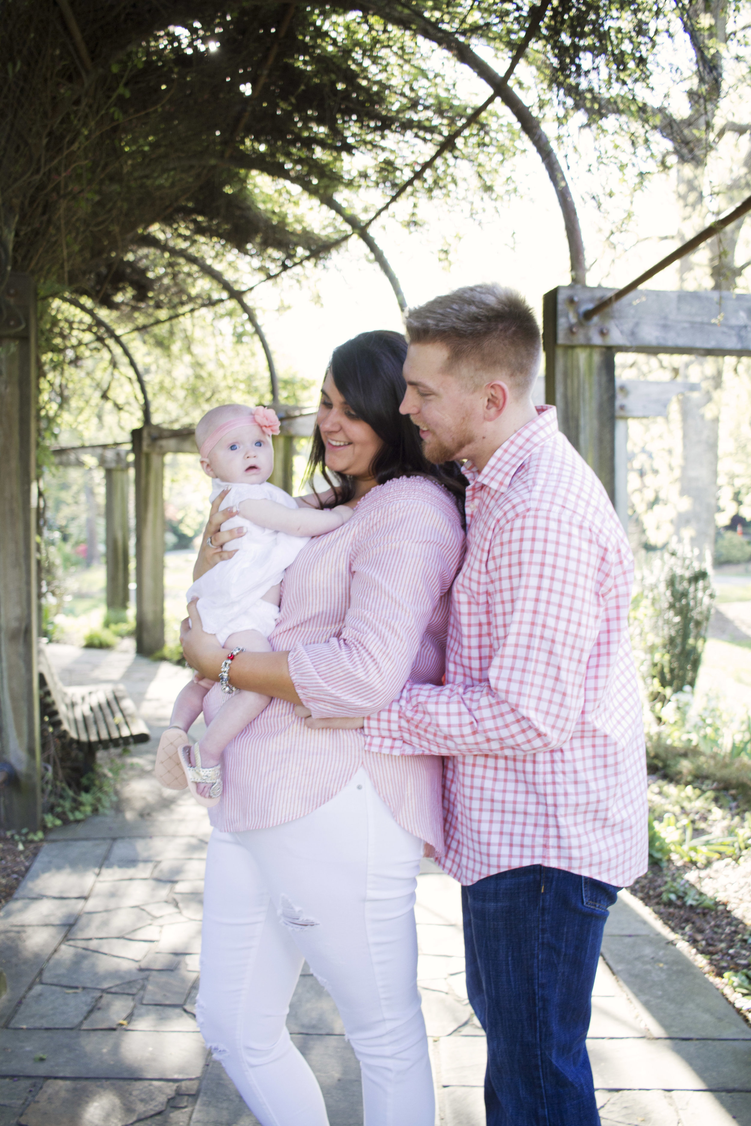 Family Newborn Portraits in Greensboro Arboretum by Kayli LaFon Photography