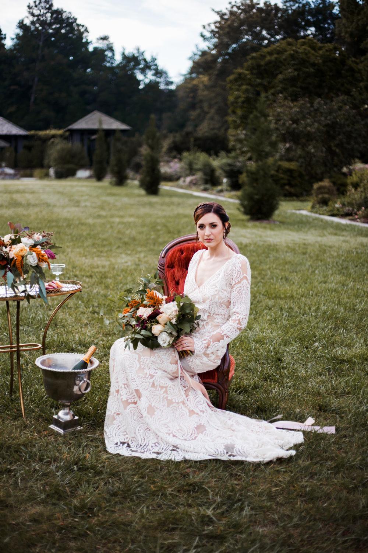 Reynolda Gardens French Wedding Bridal Shoot & Portraits | Kayli LaFon Photography