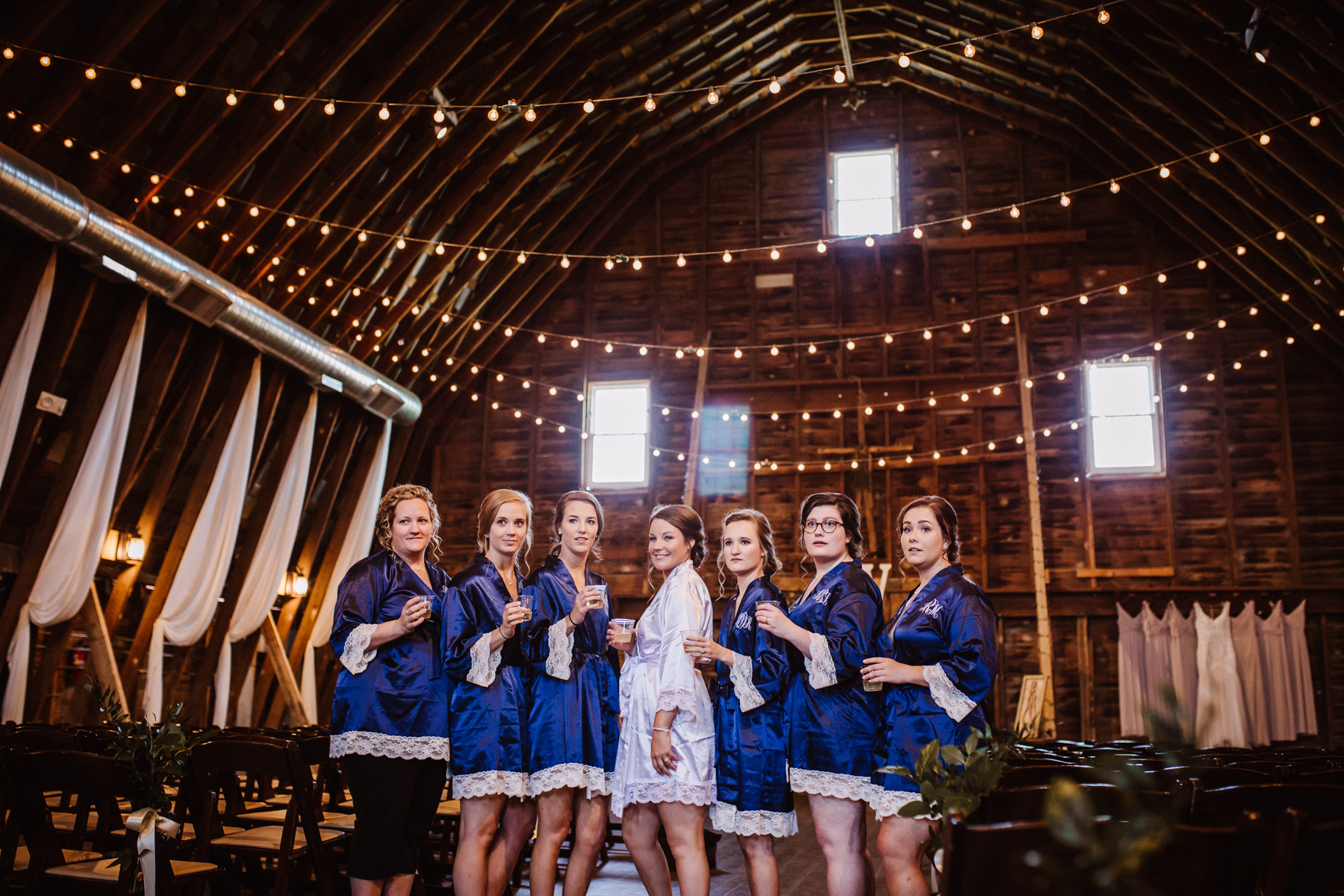Bridal Party getting ready robes and portraits | Kayli LaFon Photography