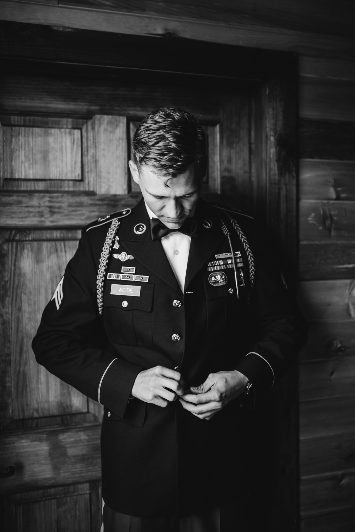 Military Groom at Millikan Farms Wedding Venue | Kayli LaFon Photography