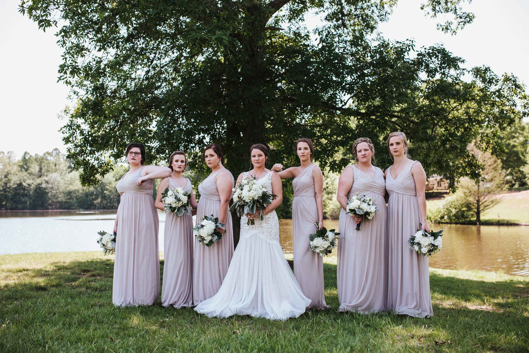 Wedding Bridal Party - Bride, bridesmaids, and flower girl | Kayli LaFon Photography