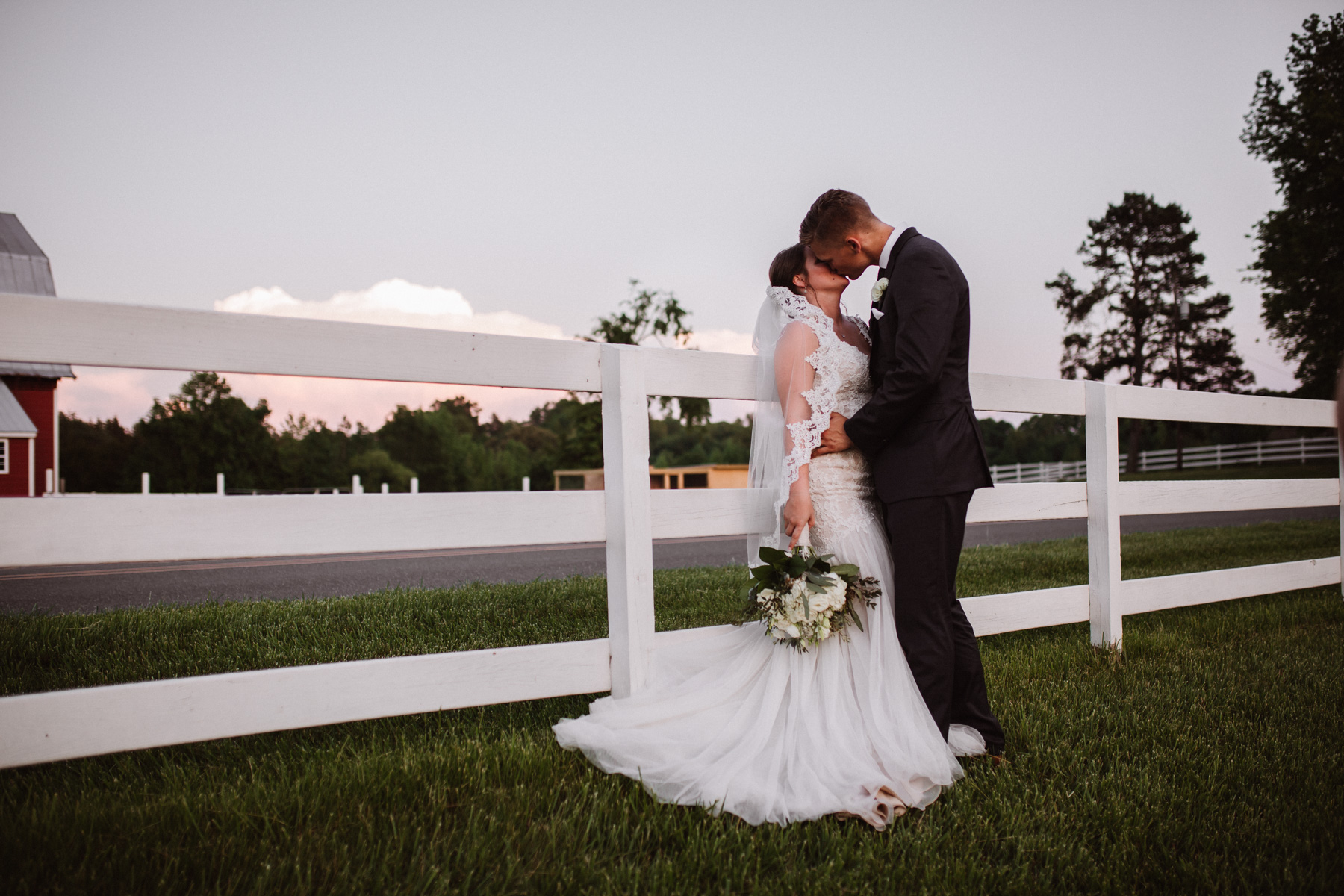 Bride and Groom Portraits at Millikan Farms | Kayli LaFon Photography