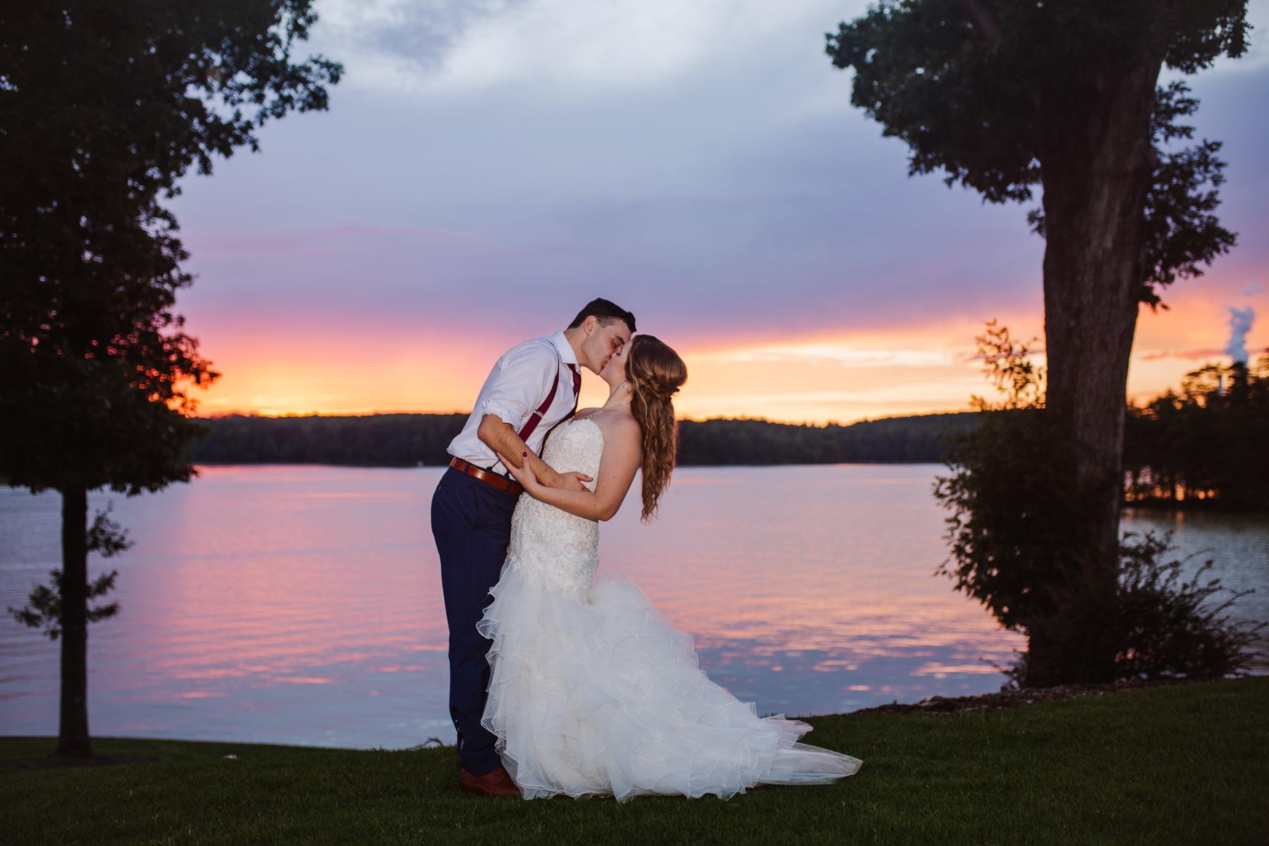 Romantic Sunset portraits of Bride and Groom at Bella Collina | Kayli LaFon Photography
