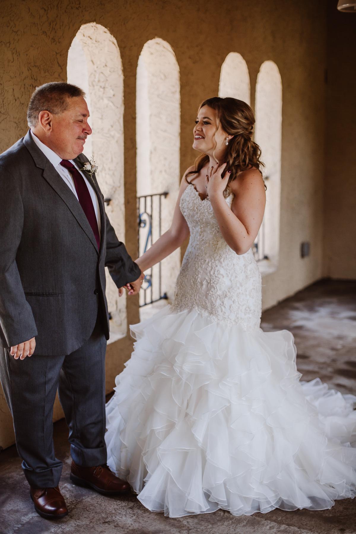 Bella Collina wedding | father and bride/daughter first look | Kayli LaFon Photography, Greensboro Winston-Salem NC Photographer