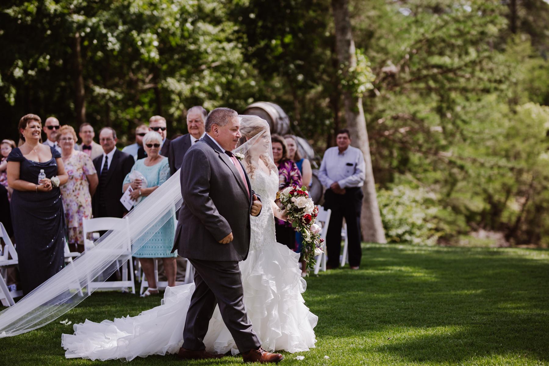 Bella Collina wedding ceremony | Kayli LaFon Photography, Greensboro Winston-Salem NC Photographer