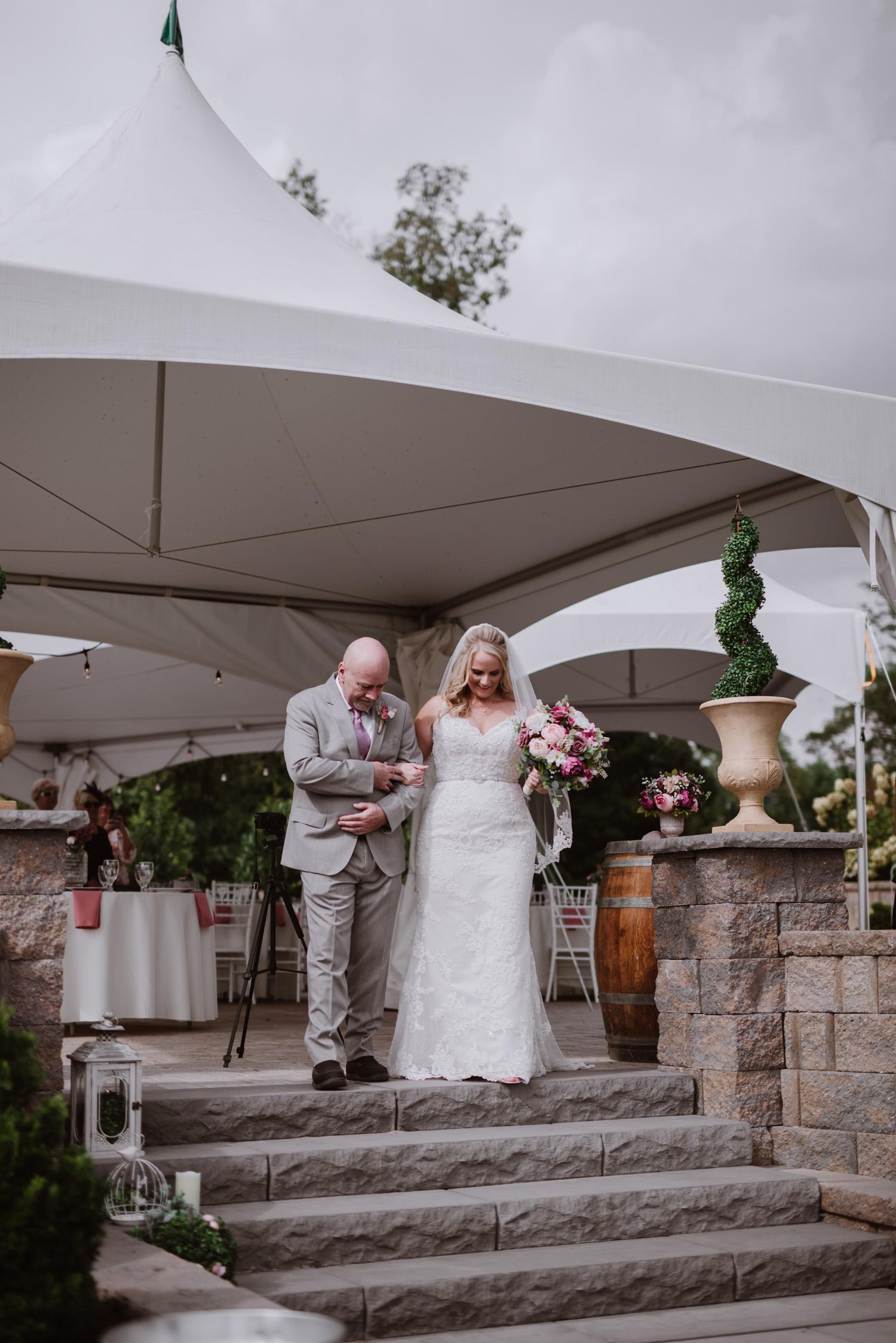 Wedding Ceremony by Kayli LaFon Photography | Greensboro Winston-Salem, NC Wedding Photographer | The Hideaway at Crooked Creek, Whitsett