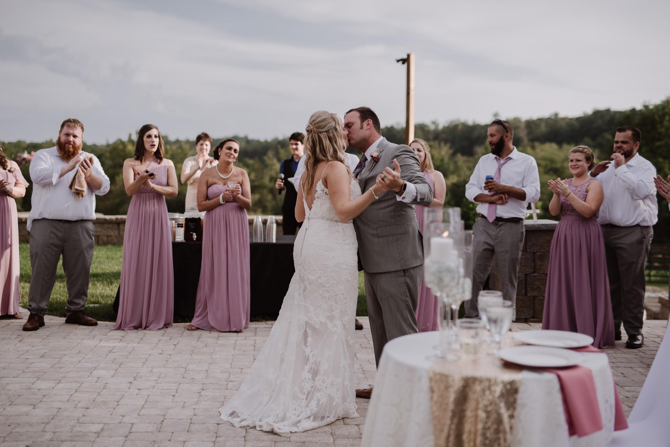 Bride and Groom Portraits by Kayli LaFon Photography | Greensboro Winston-Salem, NC Wedding Photographer | The Hideaway at Crooked Creek, Whitsett