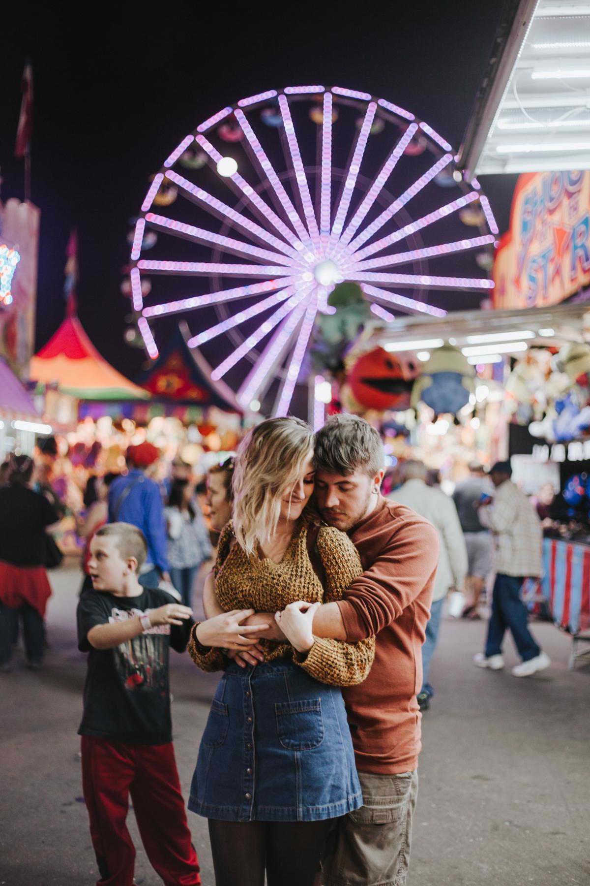 Dixie Classic Fair, Winston Salem NC couples session   Engagement Photographer   Kayli LaFon Photography
