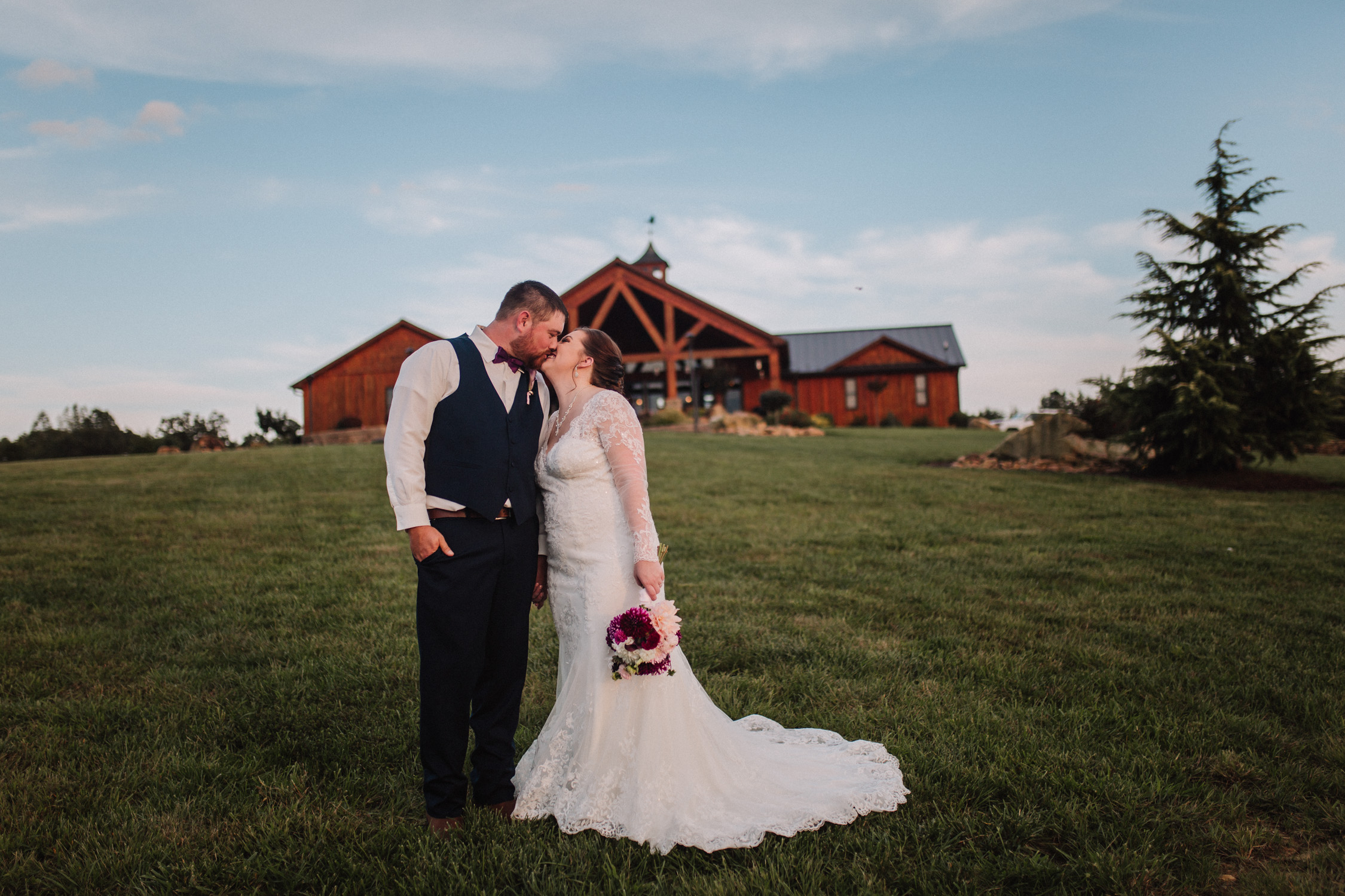 Classy, Southern, Country Wedding | Bride and Groom portrait at Atkinson Farms in Danville, Virginia | Greensboro Winston-Salem, NC Wedding Photographer