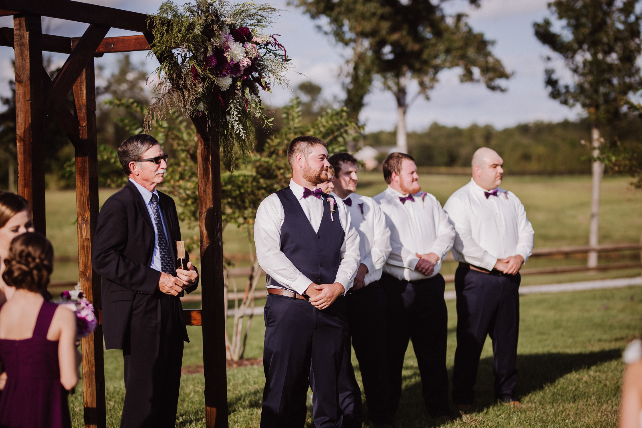 Classy, Southern, Country Wedding |  ceremony at Atkinson Farms in Danville, Virginia | Greensboro Winston-Salem, NC Wedding Photographer