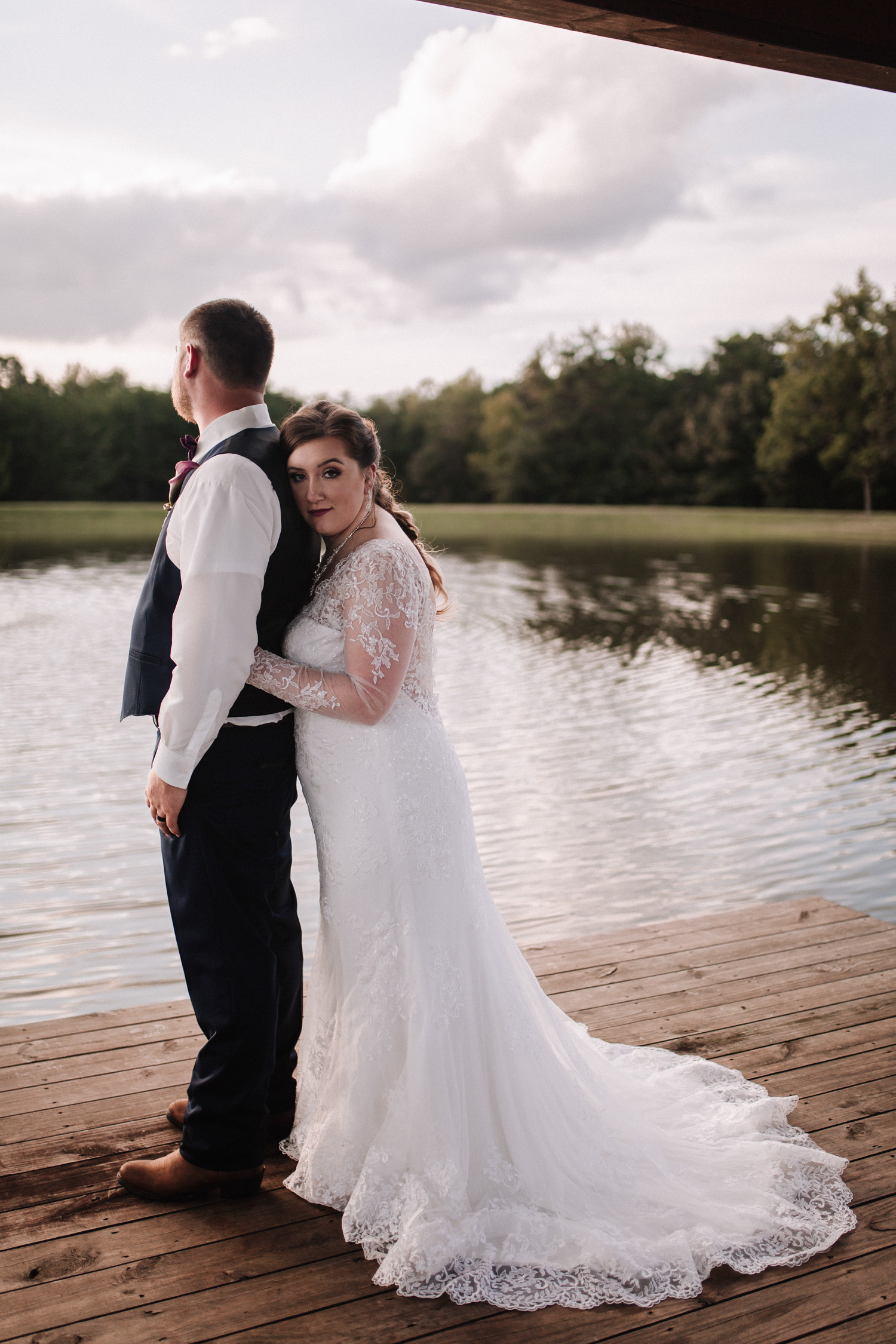 Classy, Southern, Country Wedding | Bridal and Groom portraits at Atkinson Farms in Danville, Virginia | Greensboro Winston-Salem, NC Wedding Photographer