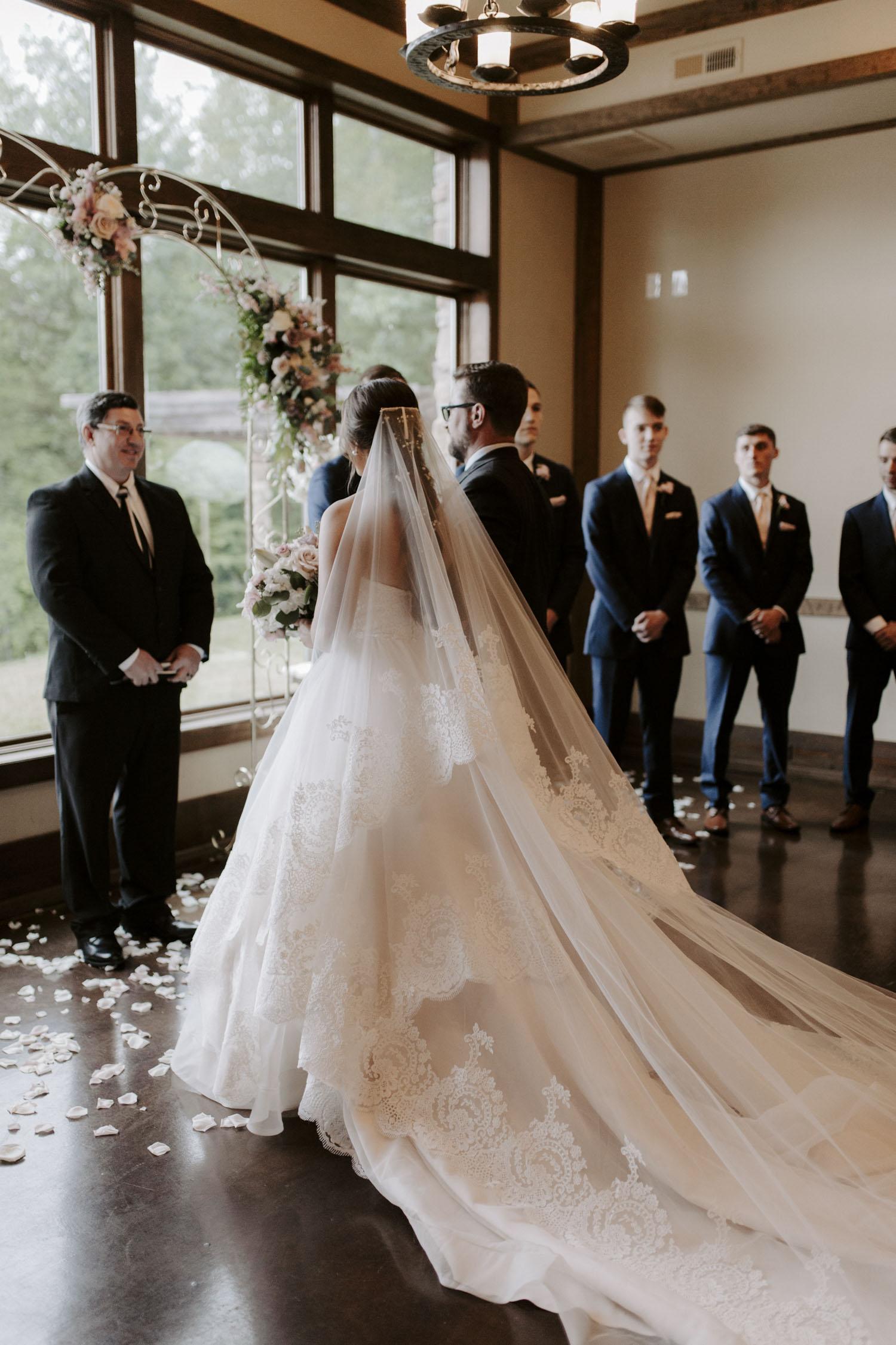 Rainy Bella Collina Wedding Ceremony | Kayli LaFon Photography, Greensboro Winston-Salem NC Wedding Photographer