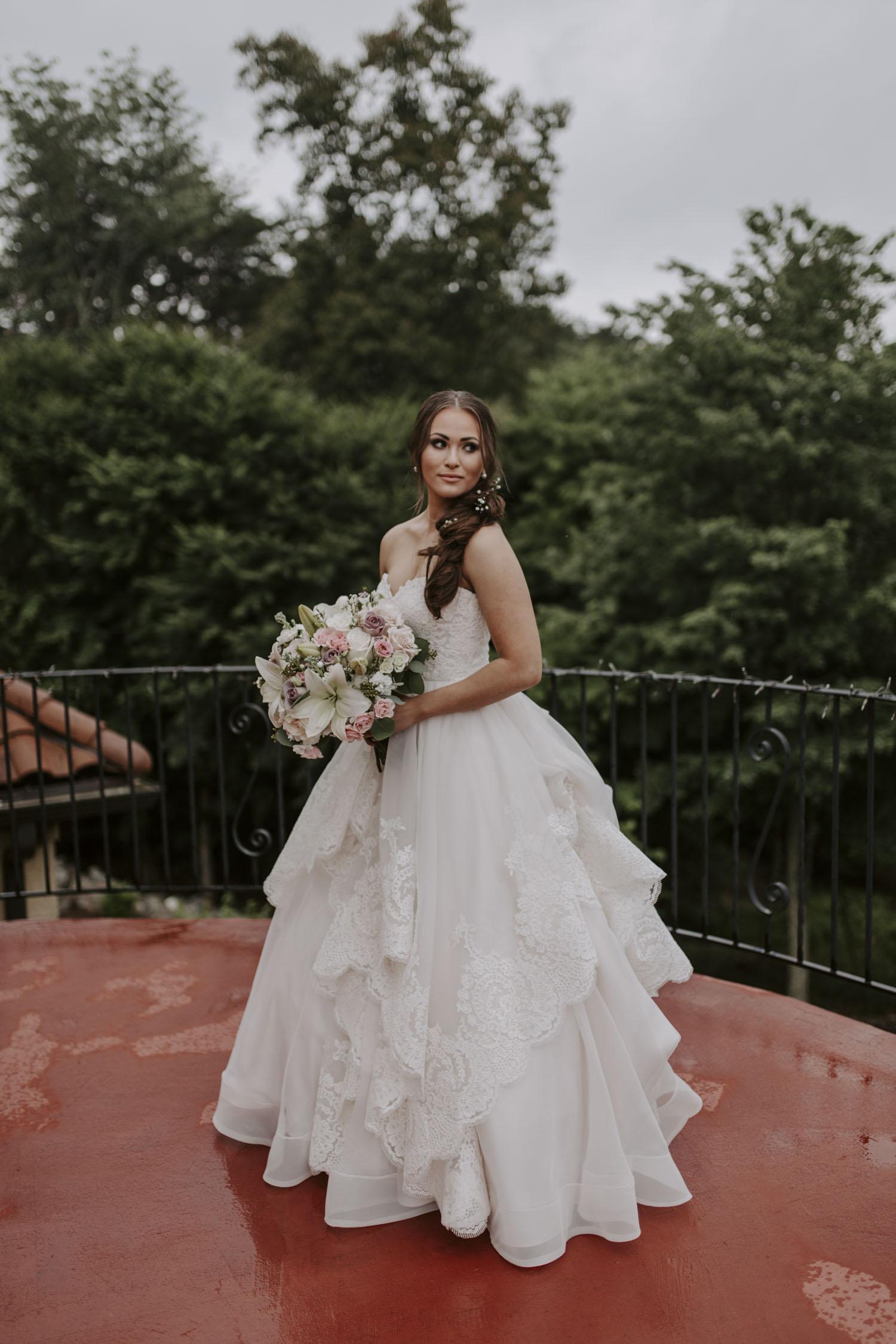 Rainy Bella Collina Wedding - Bridal Portrait | Kayli LaFon Photography, Greensboro Winston-Salem NC Wedding Photographer