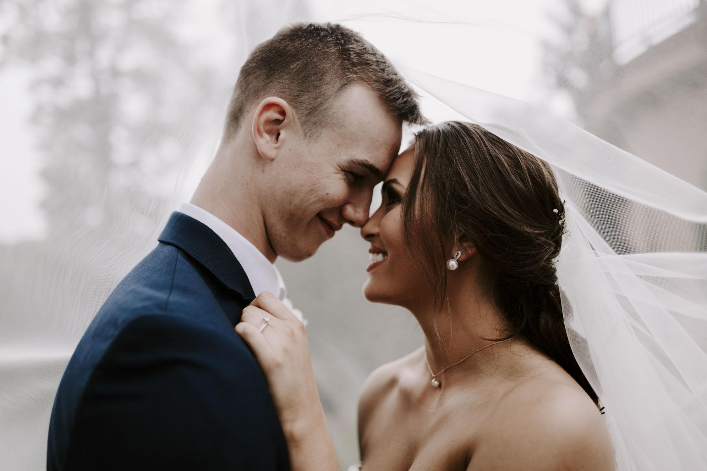 Rainy Bella Collina Wedding - Bride and Groom Newlywed Portraits | Kayli LaFon Photography, Greensboro Winston-Salem NC Wedding Photographer