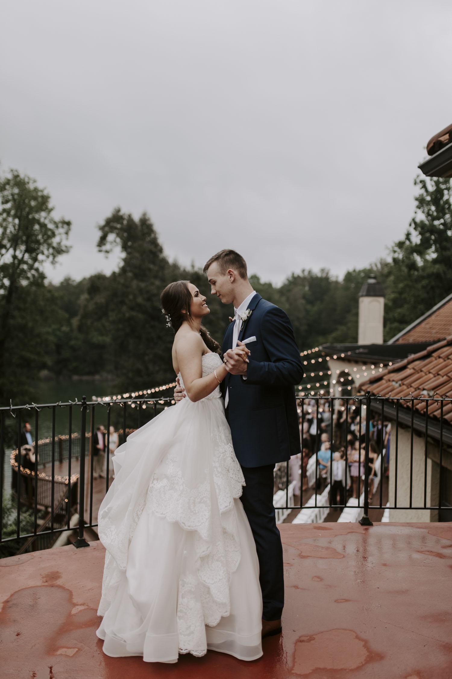 Rainy Bella Collina Wedding - First Dance at Reception | Kayli LaFon Photography, Greensboro Winston-Salem NC Wedding Photographer