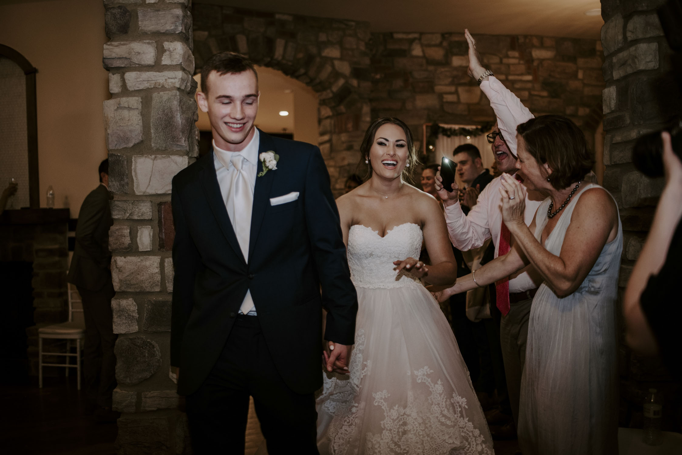 Rainy Bella Collina Wedding - Reception Cake Cutting | Kayli LaFon Photography, Greensboro Winston-Salem NC Wedding Photographer