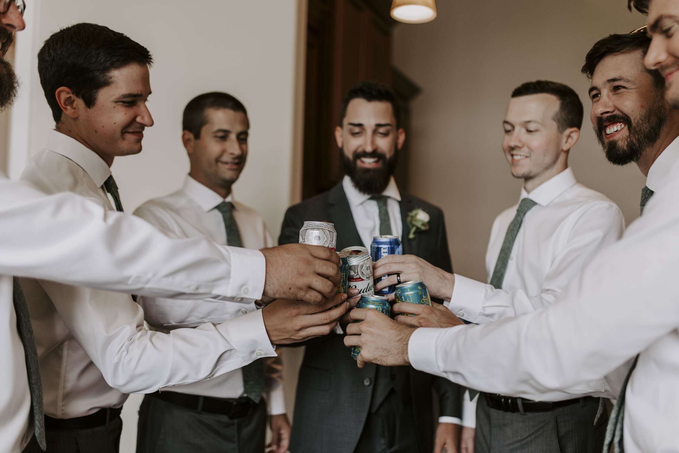 Groom and Groomsmen Getting Ready Photos at Bella Collina   By Greensboro, NC Wedding Photographer: Kayli LaFon Photography